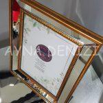 Jesy Third Gold Model Altın Renk Dekoratif Aynalı Resim Çerçevesi-12