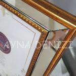 Jesy Third Gold Model Altın Renk Dekoratif Aynalı Resim Çerçevesi-21