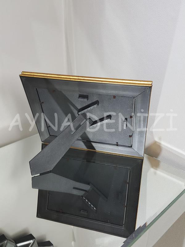 Jesy Third Gold Model Altın Renk Dekoratif Aynalı Resim Çerçevesi-24