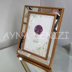 Jesy Third Gold Model Altın Renk Dekoratif Aynalı Resim Çerçevesi-7