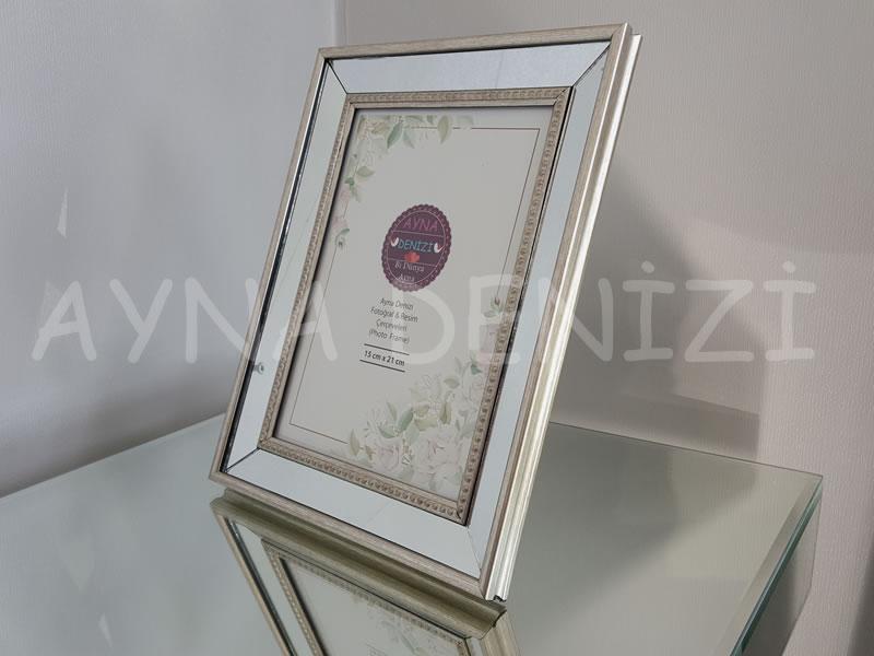 Jesy Third Silver Model Gümüş Renk Dekoratif Aynalı Resim Çerçevesi-1