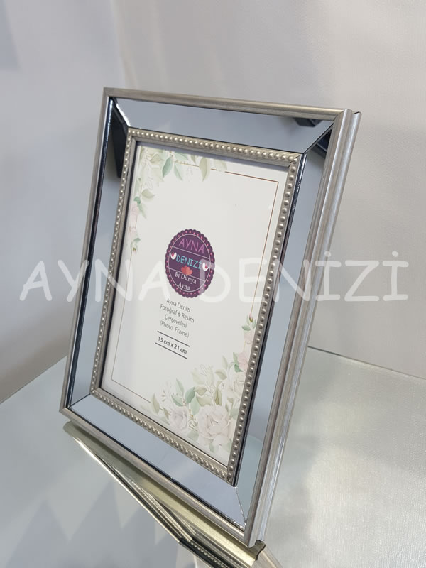 Jesy Third Silver Model Gümüş Renk Dekoratif Aynalı Resim Çerçevesi-11
