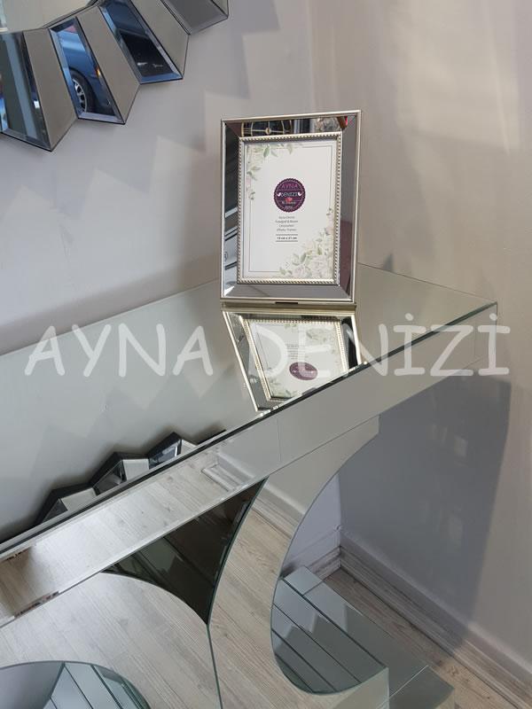 Jesy Third Silver Model Gümüş Renk Dekoratif Aynalı Resim Çerçevesi-16