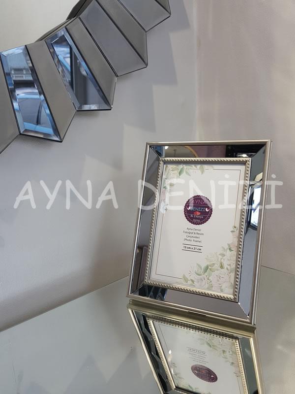 Jesy Third Silver Model Gümüş Renk Dekoratif Aynalı Resim Çerçevesi-18