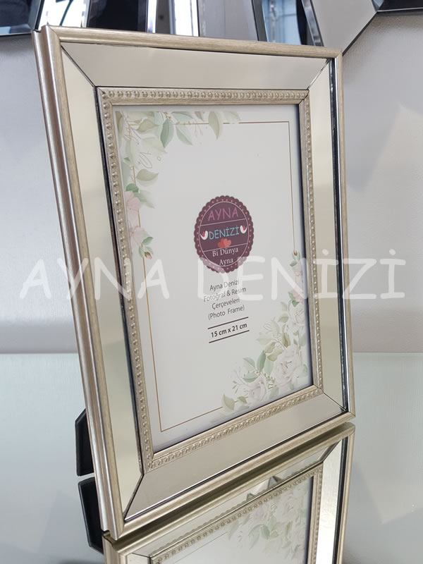 Jesy Third Silver Model Gümüş Renk Dekoratif Aynalı Resim Çerçevesi-19