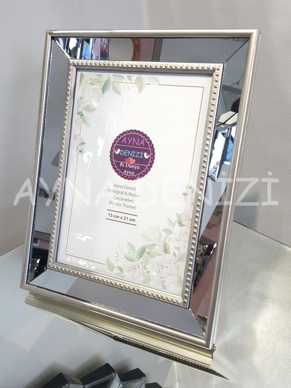Jesy Third Silver Model Gümüş Renk Dekoratif Aynalı Resim Çerçevesi-2