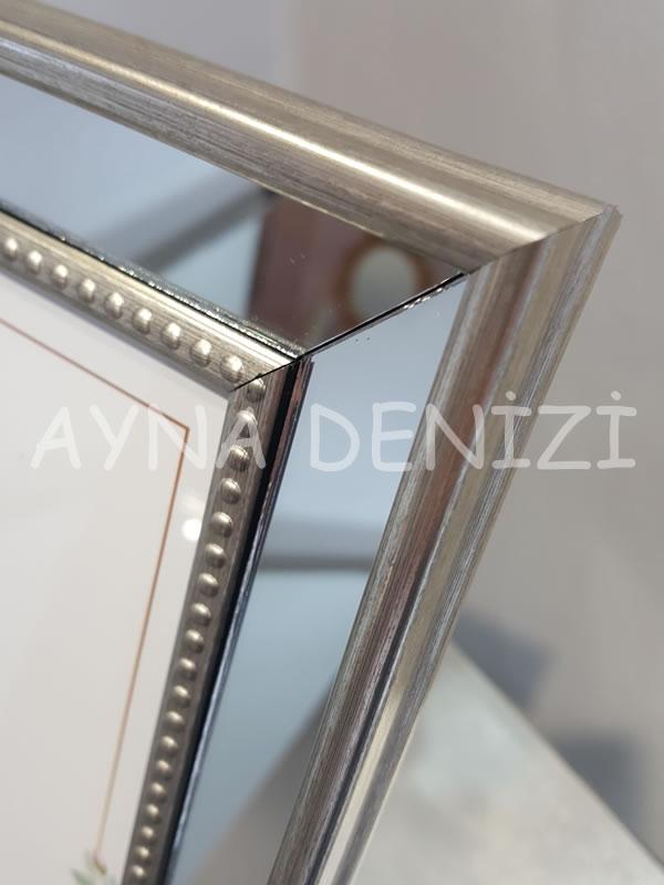 Jesy Third Silver Model Gümüş Renk Dekoratif Aynalı Resim Çerçevesi-20