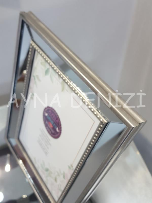 Jesy Third Silver Model Gümüş Renk Dekoratif Aynalı Resim Çerçevesi-21