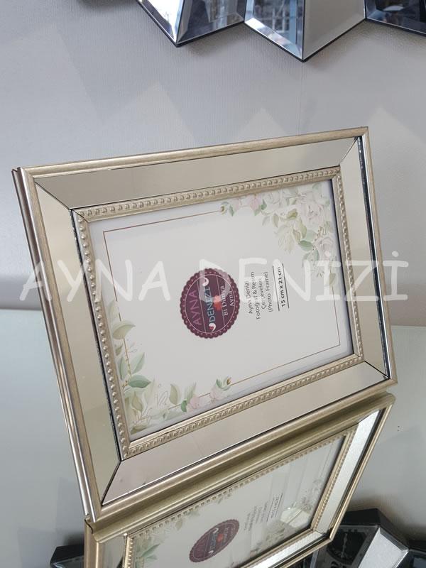 Jesy Third Silver Model Gümüş Renk Dekoratif Aynalı Resim Çerçevesi-9