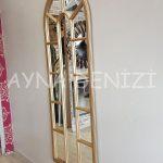 Lecce Model Altın Renk Dekoratif Pencere Ayna-12