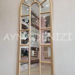 Lecce Model Altın Renk Dekoratif Pencere Ayna-13