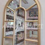 Lecce Model Altın Renk Dekoratif Pencere Ayna-14