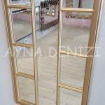 Lecce Model Altın Renk Dekoratif Pencere Ayna-15