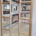 Lecce Model Altın Renk Dekoratif Pencere Ayna-16