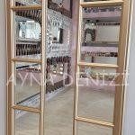 Lecce Model Altın Renk Dekoratif Pencere Ayna-19