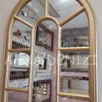 Lecce Model Altın Renk Dekoratif Pencere Ayna-20