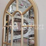 Lecce Model Altın Renk Dekoratif Pencere Ayna-22