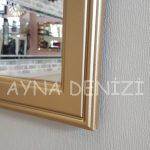Lecce Model Altın Renk Dekoratif Pencere Ayna-23