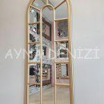 Lecce Model Altın Renk Dekoratif Pencere Ayna-3