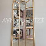 Lecce Model Altın Renk Dekoratif Pencere Ayna-4