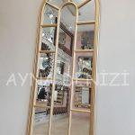 Lecce Model Altın Renk Dekoratif Pencere Ayna-8