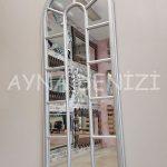 Lecce Model Gümüş Renk Dekoratif Pencere Ayna-13