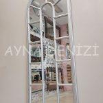 Lecce Model Gümüş Renk Dekoratif Pencere Ayna-14