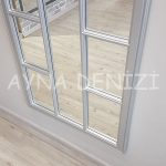 Lecce Model Gümüş Renk Dekoratif Pencere Ayna-17
