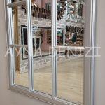 Lecce Model Gümüş Renk Dekoratif Pencere Ayna-18