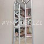 Lecce Model Gümüş Renk Dekoratif Pencere Ayna-2