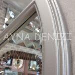 Lecce Model Gümüş Renk Dekoratif Pencere Ayna-20