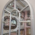 Lecce Model Gümüş Renk Dekoratif Pencere Ayna-22