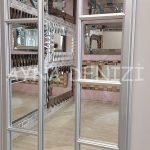 Lecce Model Gümüş Renk Dekoratif Pencere Ayna-23