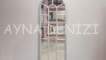 Lecce Model Gümüş Renk Dekoratif Pencere Ayna