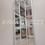 Lecce Model Gümüş Renk Dekoratif Pencere Ayna-5