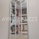 Lecce Model Gümüş Renk Dekoratif Pencere Ayna-9