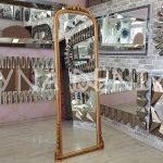 Matmazel Model Altın Renk Ayaklı Boy Aynası-1