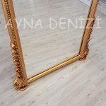 Matmazel Model Altın Renk Ayaklı Boy Aynası-15