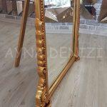 Matmazel Model Altın Renk Ayaklı Boy Aynası-16