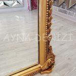Matmazel Model Altın Renk Ayaklı Boy Aynası-18