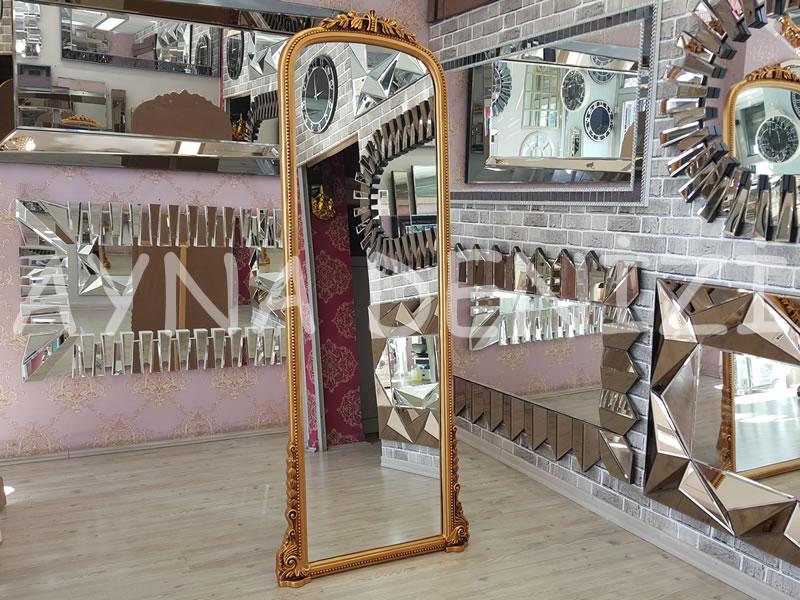 Matmazel Model Altın Renk Ayaklı Boy Aynası