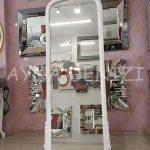 Matmazel Model Beyaz Renk Ayaklı Boy Aynası-12