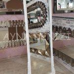 Matmazel Model Beyaz Renk Ayaklı Boy Aynası-13