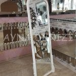 Matmazel Model Beyaz Renk Ayaklı Boy Aynası-15