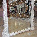 Matmazel Model Beyaz Renk Ayaklı Boy Aynası-19