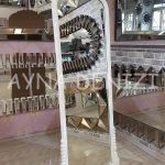 Matmazel Model Beyaz Renk Ayaklı Boy Aynası-2