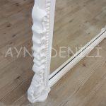 Matmazel Model Beyaz Renk Ayaklı Boy Aynası-24