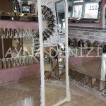 Matmazel Model Beyaz Renk Ayaklı Boy Aynası-3