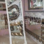 Matmazel Model Beyaz Renk Ayaklı Boy Aynası-6