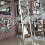 Matmazel Model Eskitme Beyaz Renk Ayaklı Boy Aynası-11